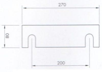 Placa de sujeción del Tope Manual Trasero RPS-500/2