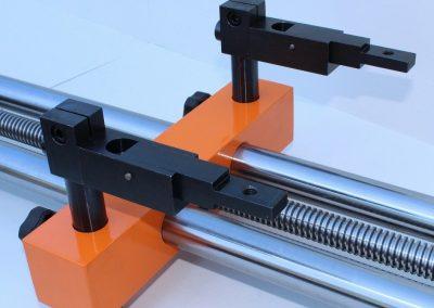 Detalle de los dos topes del Tope Manual Trasero RPS-500/2