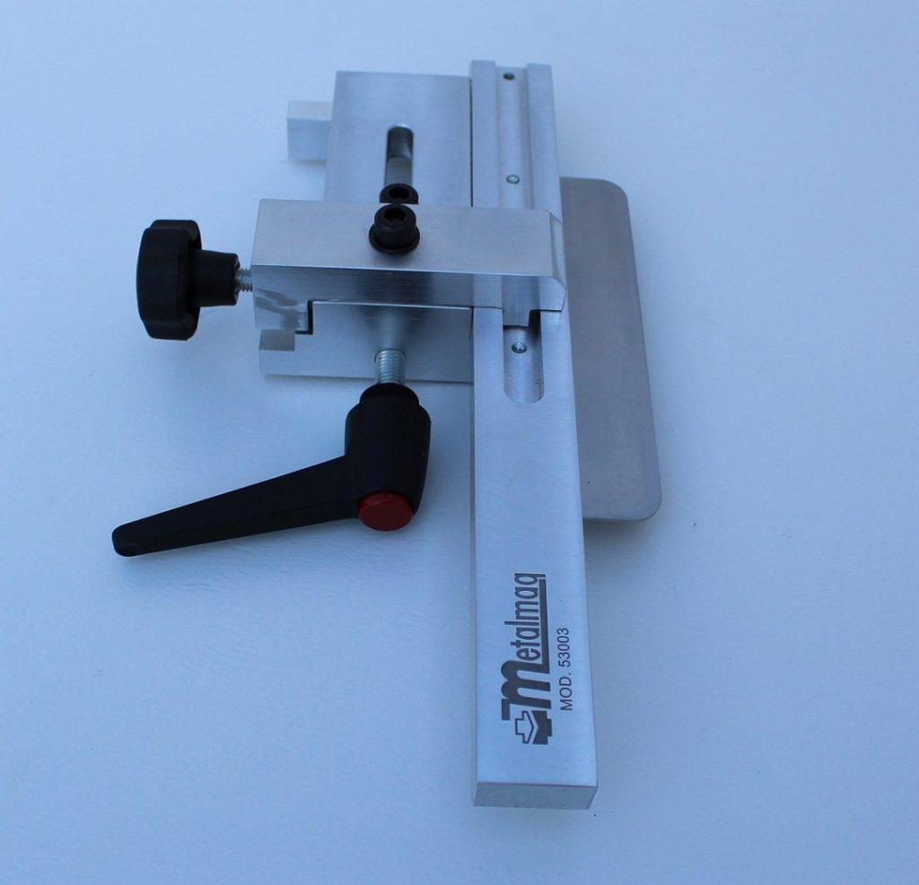Escuadra manual 53003, para plegadora de chapa y matriz máximo de 80 m/m